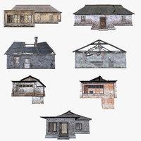 set old houses 3D model