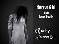 3D horror girl