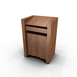 3D lectern furniture