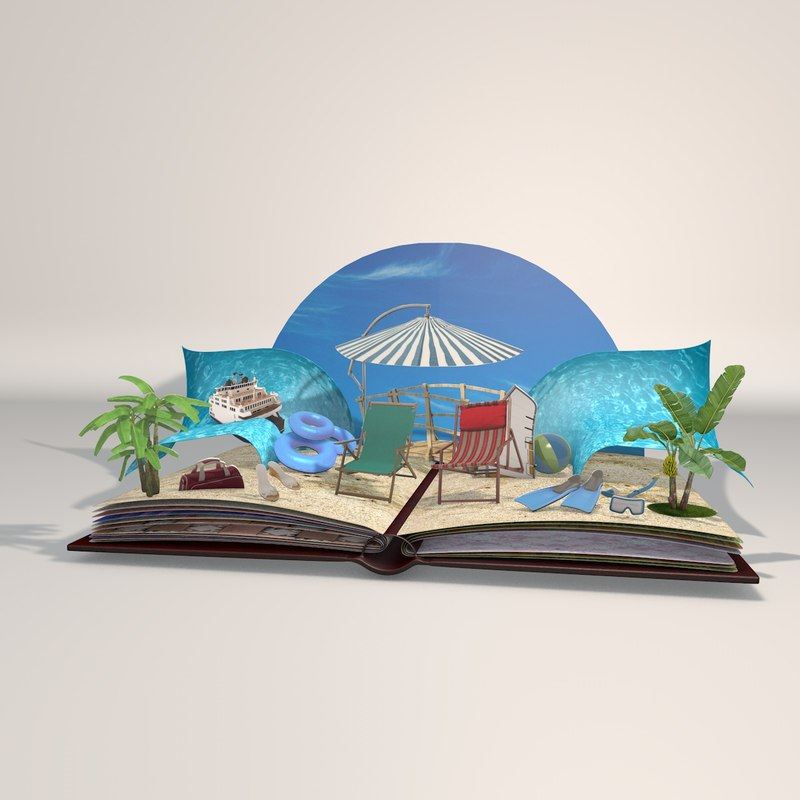 book animation 3D model