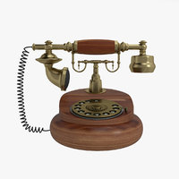 3D antique rotary dial phone