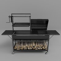 3D grill firewood