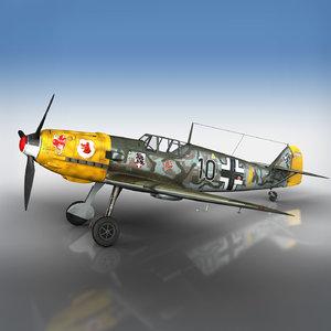 messerschmitt - bf-109 black model