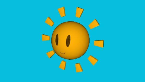 sunset smile 3D model