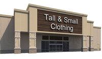 3D exterior retail store