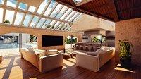 3D model mansion villa