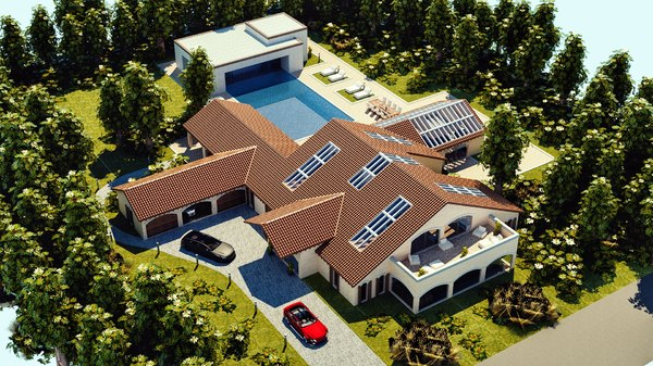 3D model mansion villa
