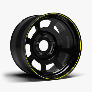 stock car wheel 3D model