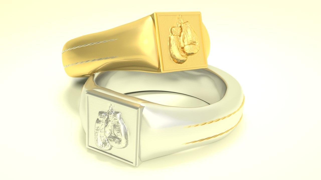 ring man gold 3D model