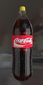 3D bottle coca model