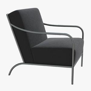 3D bernhardt renton chair armchair