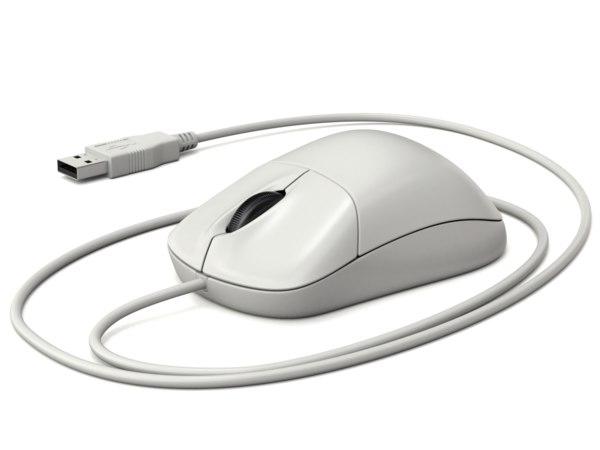 computer mouse plug 3D model