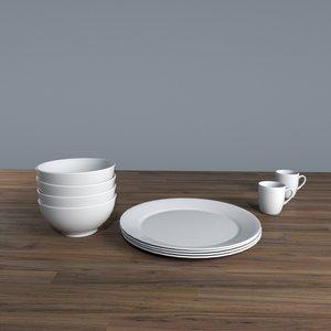 3D set porcelain model
