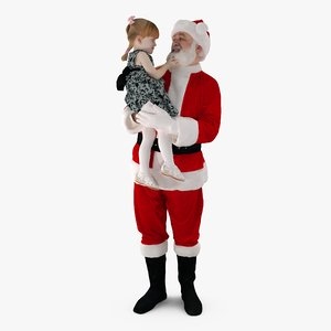santa child people human 3d model
