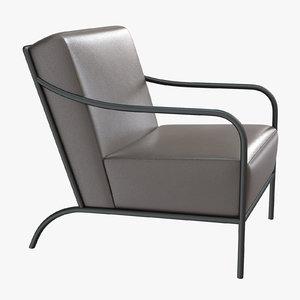 3D armchair interior design