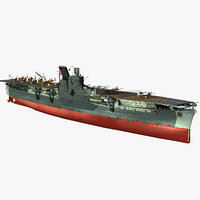 3D model japanese aircraft carrier junyo
