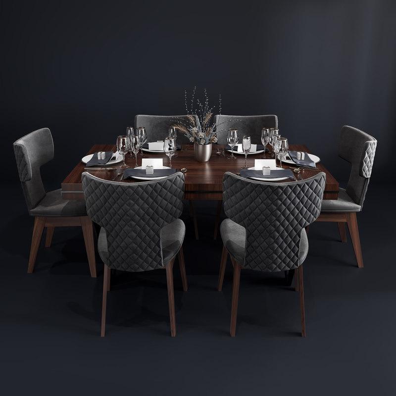 bamax dining room set 3D model
