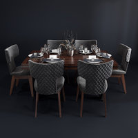 bamax dining room set 3D model