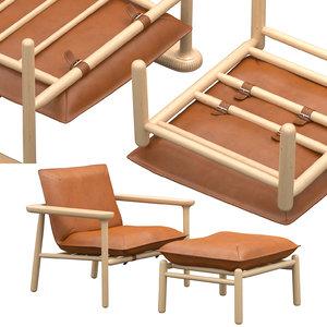 3D igman chair wood