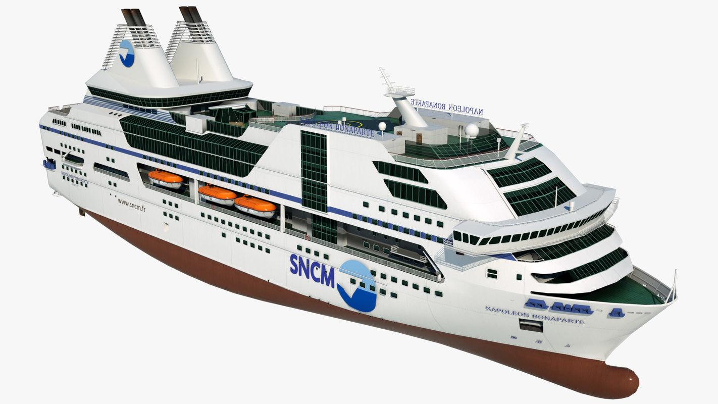 large cruise napoleon bonaparte 3D model