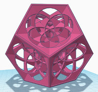 3D dodecahedron model