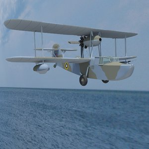 3D supermarine walrus mk-1 model