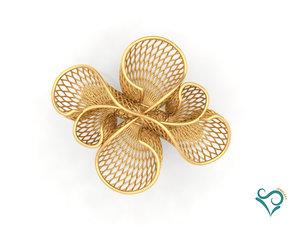 gold ring modeler engaged 3D model