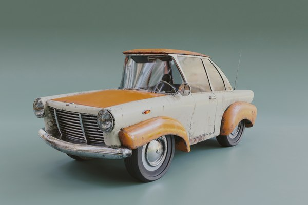 3D stylized car model