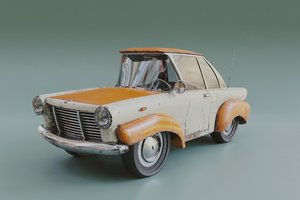 3D stylized car model