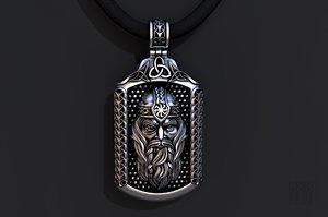 jewelry silver pendant god 3D model