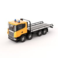 3D scania evacuator truck model