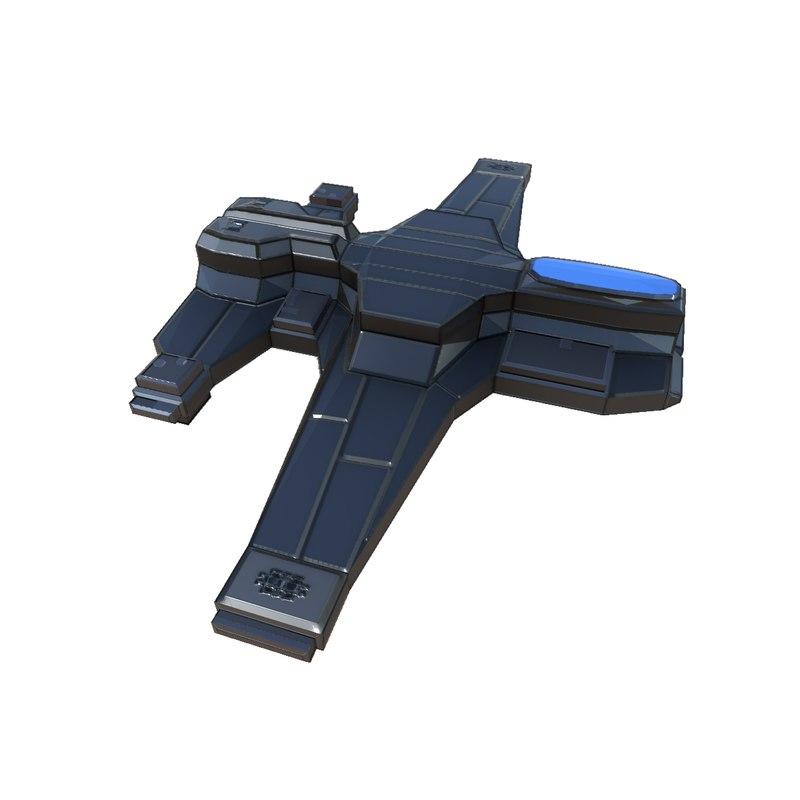 scout ship 3D model
