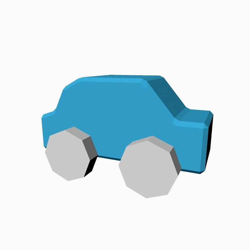 3D model children s toy car