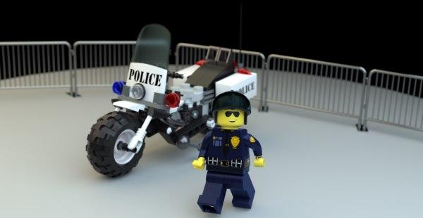 lego officer police model