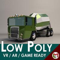 3D model truck concrete mixer