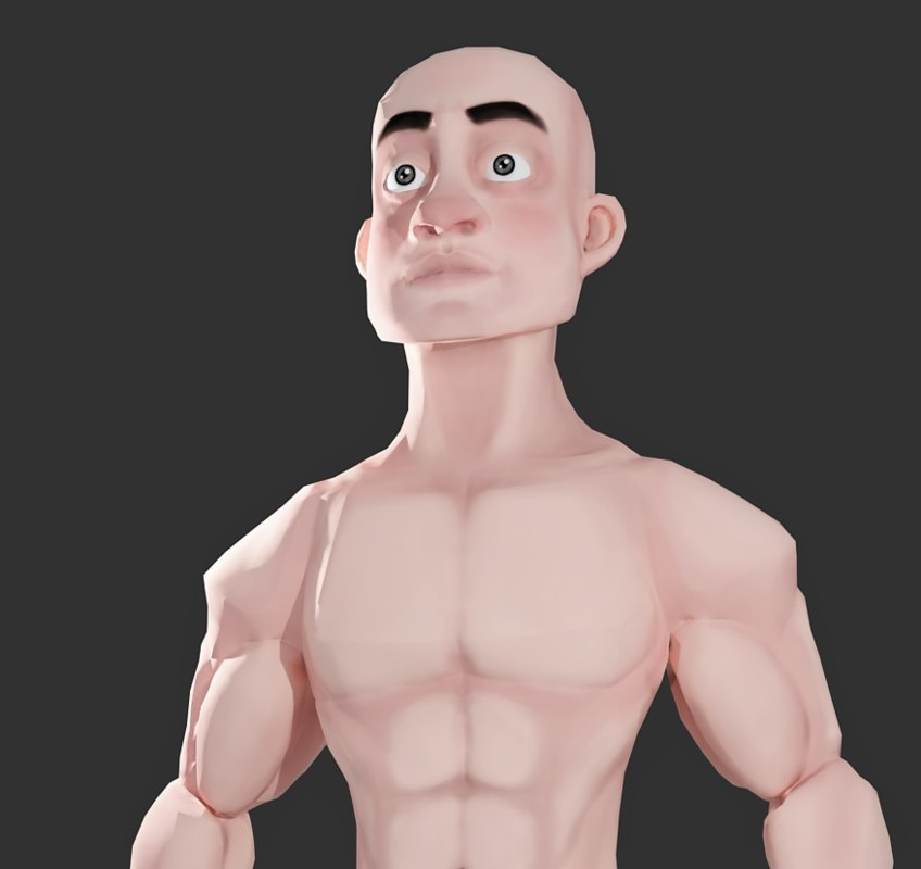 3D model stylized character