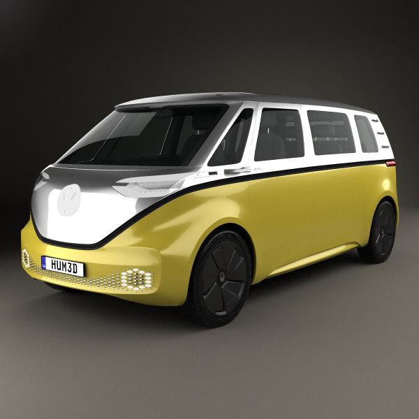 3D volkswagen buzz id