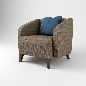 armchair morgan lounge chair 3D model