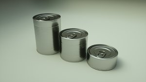 3D food canned tin pack