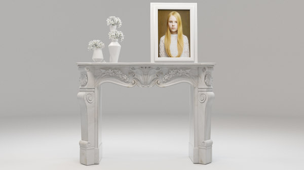 3D classical fireplace model