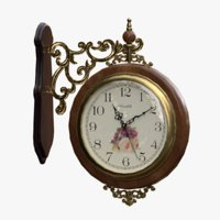 Decorative Double Sided Wall Clock