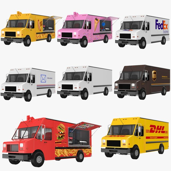 trucks modeled 3D model