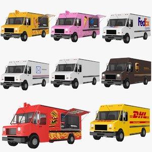 trucks modeled 3D model