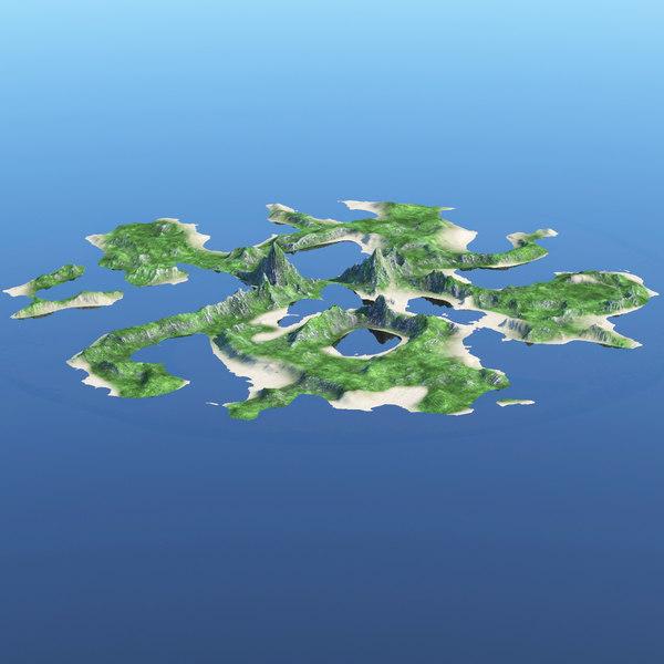 island ocean 3D model