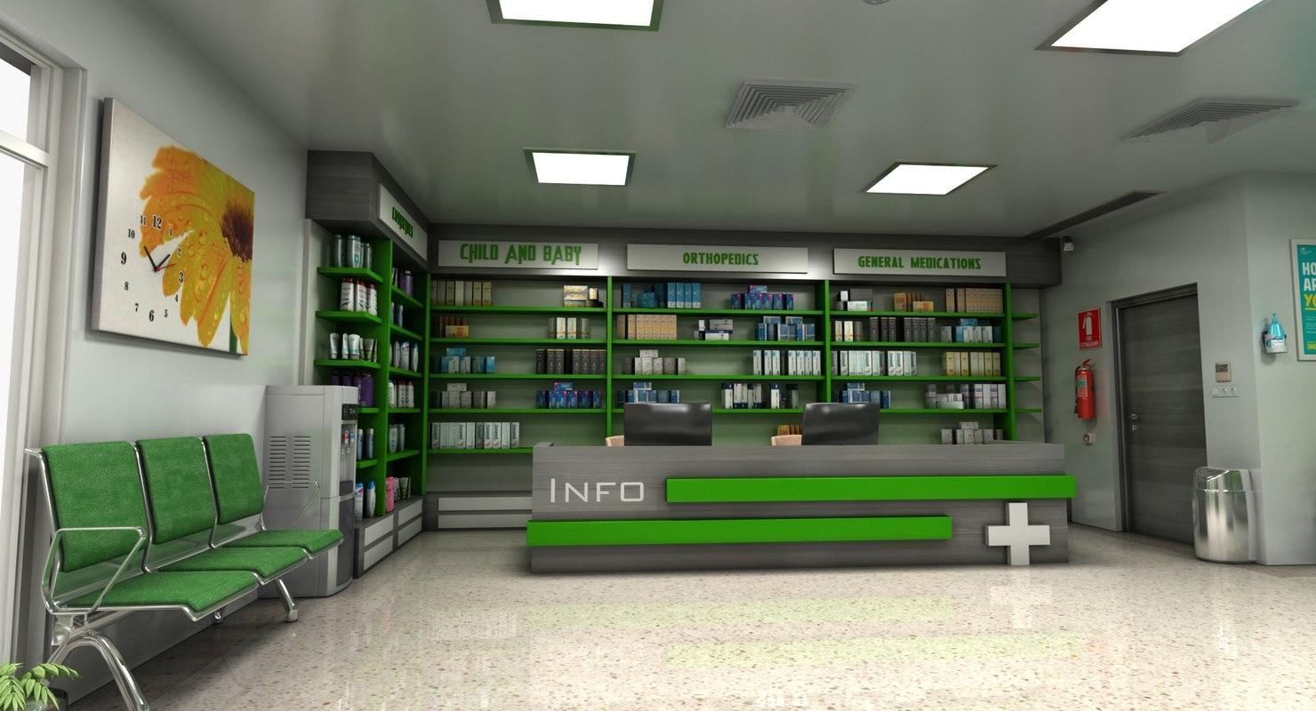 pharmacy store 3D
