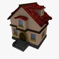 cartoonish medieval house 3D model