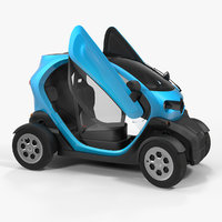 3D mini electric car generic model