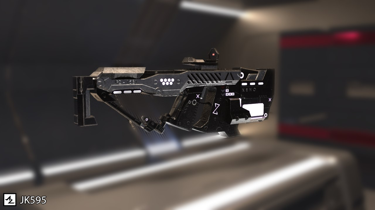 3D sci-fi weapons - vector