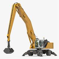 3D wheeled excavator generic
