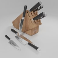 knives kitchen 3D model